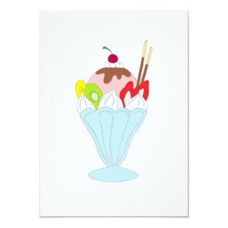 Helado del helado invitación 11,4 x 15,8 cm