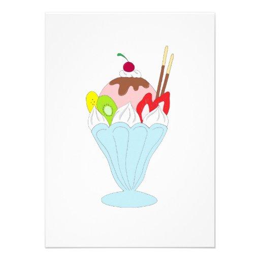 Helado del helado anuncios personalizados