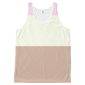 Helado napolitano camiseta de tirantes con estampado integral