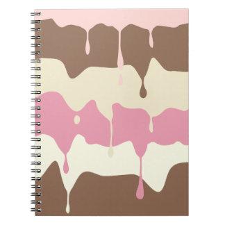 Helado napolitano de goteo cuaderno