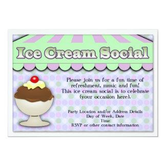Helado púrpura/verde del Social del helado, de la Invitacion Personalizada