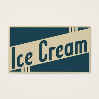 helado retro tarjeta de negocios