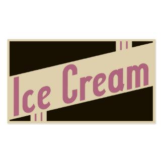 helado retro tarjetas de visita