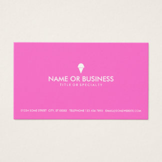 helado simple tarjeta de negocios