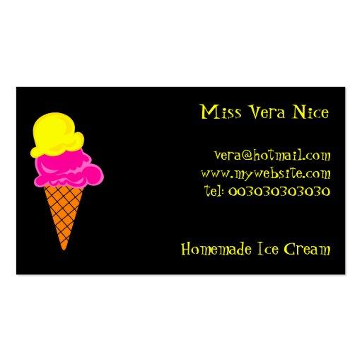 Helado, Srta. Vera Nice, Plantillas De Tarjetas Personales