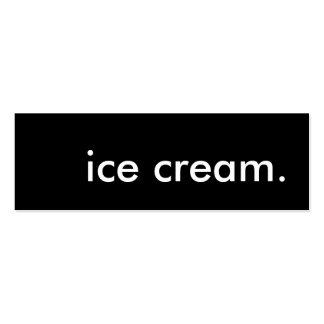 helado tarjetas de visita mini