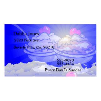 Helados del helado en el cielo llenado nube tarjetas de visita
