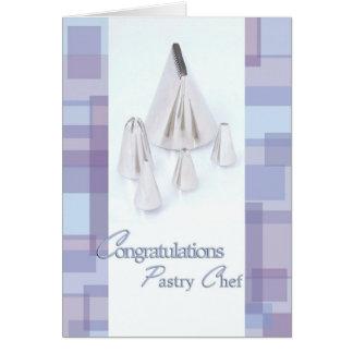 Helando las extremidades - graduado del chef de tarjeta de felicitación