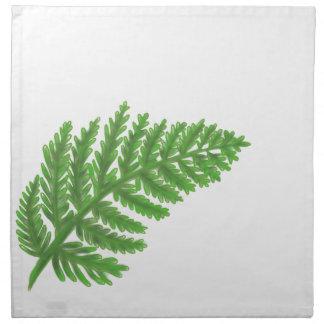 Helecho verde servilleta de tela
