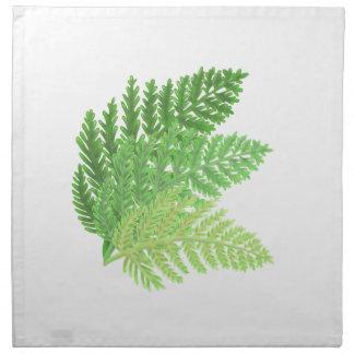 Helechos verdes servilleta de tela