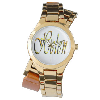 Helen, nombre, logotipo, reloj del abrigo del oro
