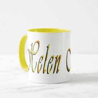 Helen, nombre, logotipo, taza de café combinada