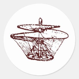 hélice etiqueta redonda