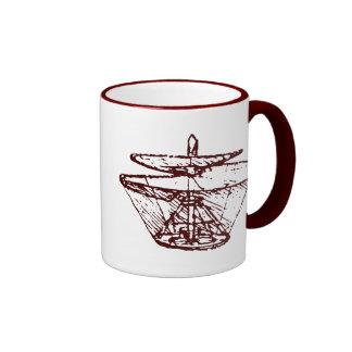 hélice tazas de café