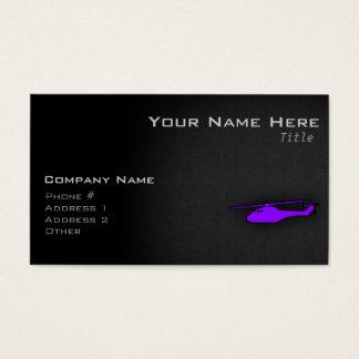 Helicóptero púrpura violeta tarjeta de negocios