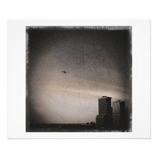 helicóptero sobre la bahía de Nueva York Foto