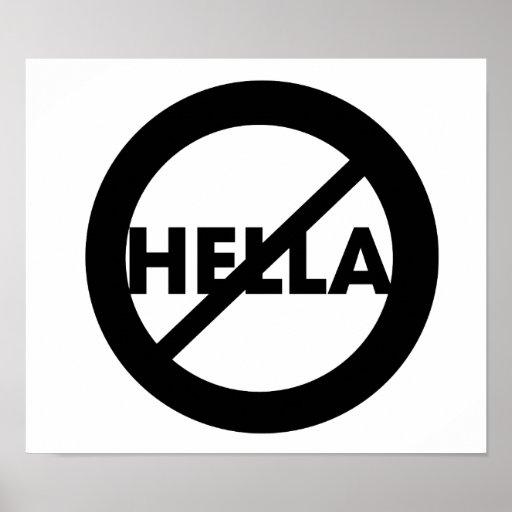 Hella no es un poster de la palabra