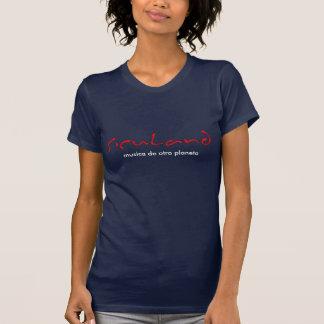 hembra azul de la siculand-camisa camiseta