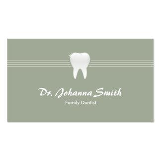 Hembra dental de la cita del diente brillante tarjetas de visita
