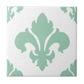 Hemlock de la flor de lis 2 azulejo cerámica
