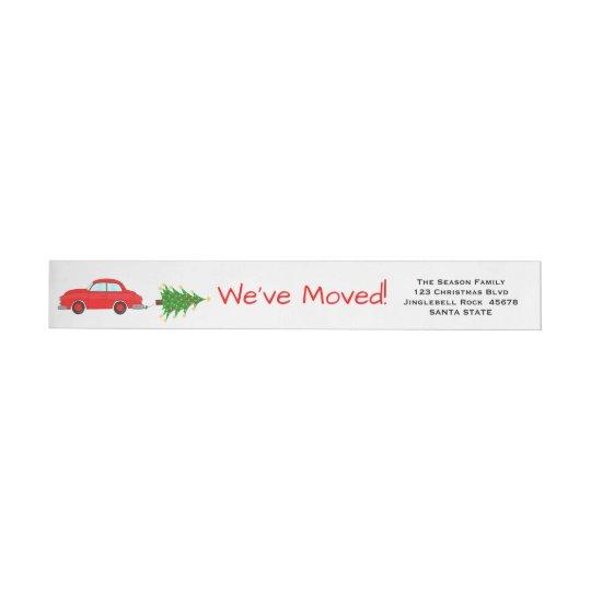Hemos movido la etiqueta del navidad del coche y etiquetas postales