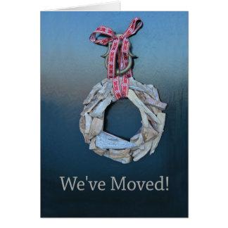 Hemos movido la nueva invitación de la dirección tarjeta de felicitación