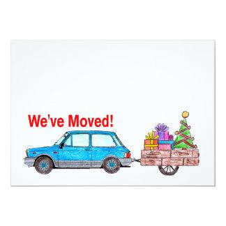 Hemos movido la tarjeta de Navidad del coche y del Invitación 12,7 X 17,8 Cm