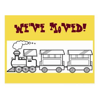 Hemos movido la tarjeta del tren