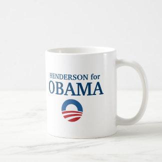 HENDERSON para el personalizado de Obama su ciudad Taza De Café