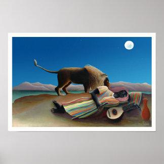 Henri Rousseau - el gitano durmiente Póster