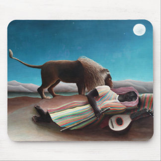 Henri Rousseau el vintage gitano el dormir Alfombrilla De Ratón