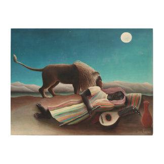 Henri Rousseau el vintage gitano el dormir Impresión En Madera