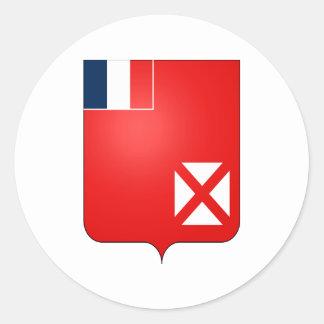 Heráldica oficial del escudo de armas de Wallis Pegatina Redonda
