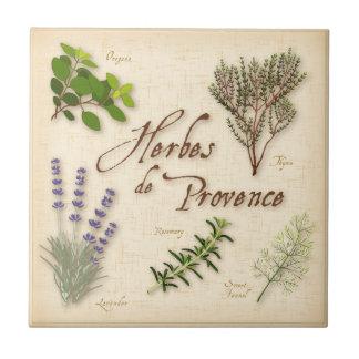Herbes de Provence, lavanda, tomillo, orégano Azulejo Cuadrado Pequeño