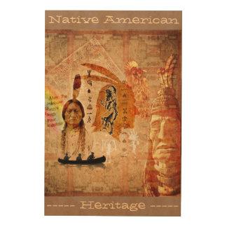 Herencia del nativo americano cuadros de madera