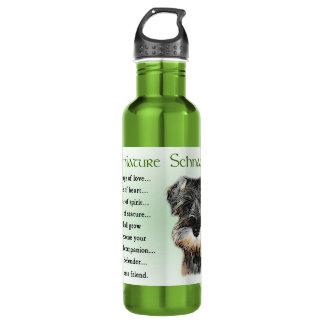 Herencia del perrito del Schnauzer miniatura Botella De Agua