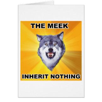 Herencia mansa del lobo del valor tarjeta