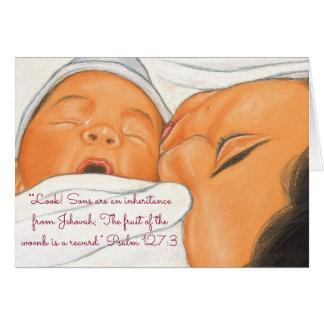 Herencia-Reward~Scripture~Baby de los hijos Tarjeta