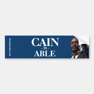 Herman Caín: Caín puede - fondo azul Pegatina Para Coche