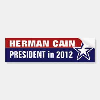 Herman Caín en 2012 Pegatina De Parachoque