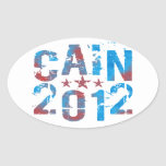 Herman Caín para el presidente en 2012 Pegatina De Ovaladas
