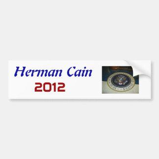 Herman Caín, presidente, 2012 Etiqueta De Parachoque
