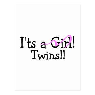 Hermana a gemelos del chica postal