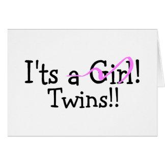 Hermana a gemelos del chica tarjeta