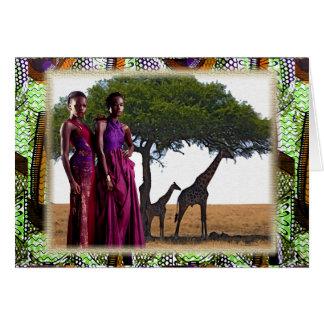 Hermana de la tierra de la madre tarjeta de felicitación
