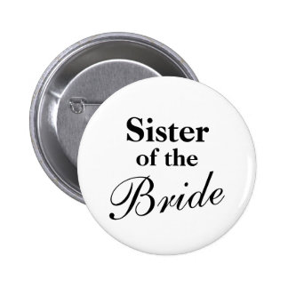 Hermana de los botones de la novia chapa redonda de 5 cm