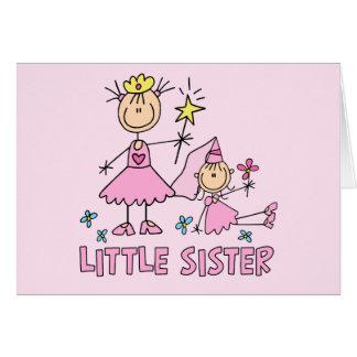Hermana de princesa Duo del palillo pequeña Tarjeta Pequeña