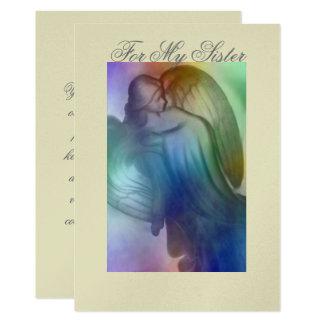 Hermana del ángel del arco iris invitación 12,7 x 17,8 cm
