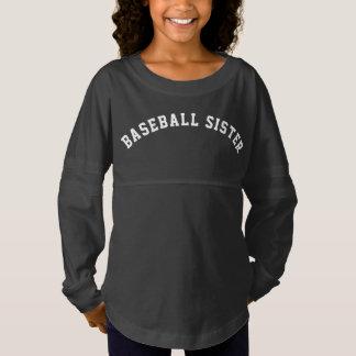 Hermana del béisbol camiseta spirit