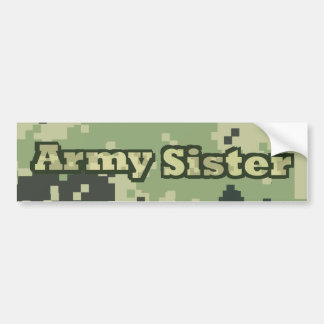 Hermana del ejército pegatina para coche